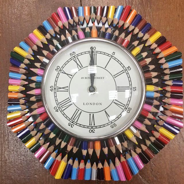 Recycled Crayon Clock