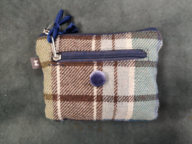 Blue Tweed Rectangle Purse
