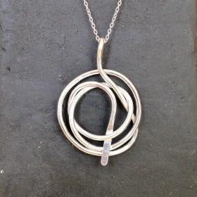 Large Silver Knot Necklace