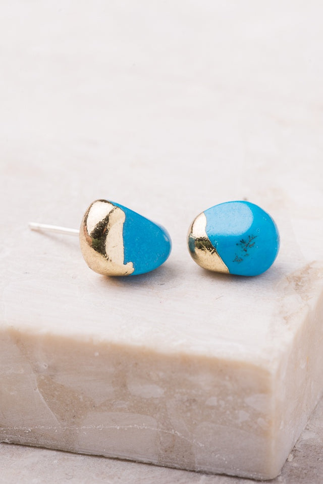 Cameron Blue Stud Earrings