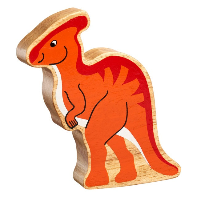 Orange Horned Dinosaur Shape Toy