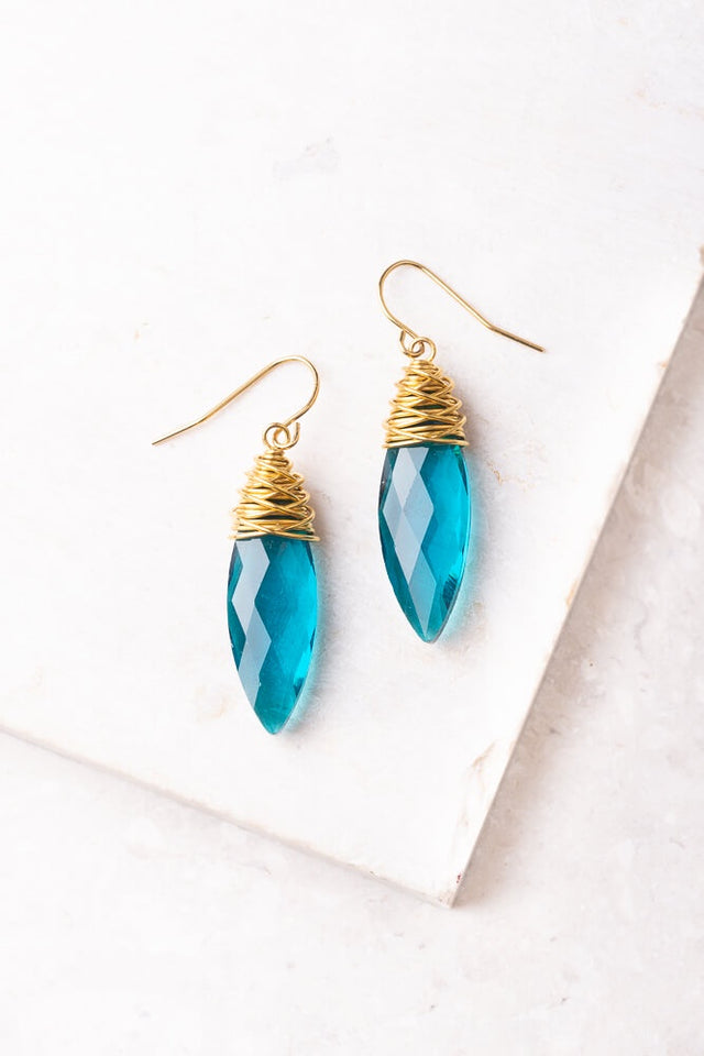Bridget Long Blue  Earrings