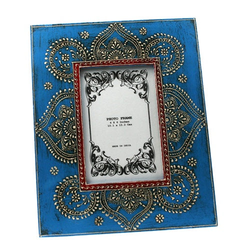 Blue patterned  Photo Frame