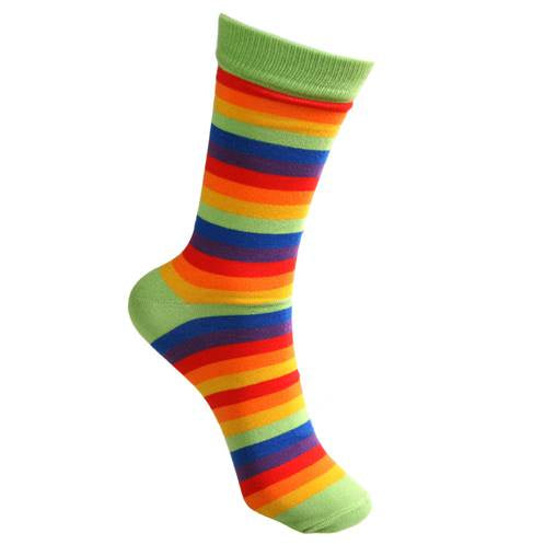 Bamboo Socks (Mens) - Rainbow Stripes