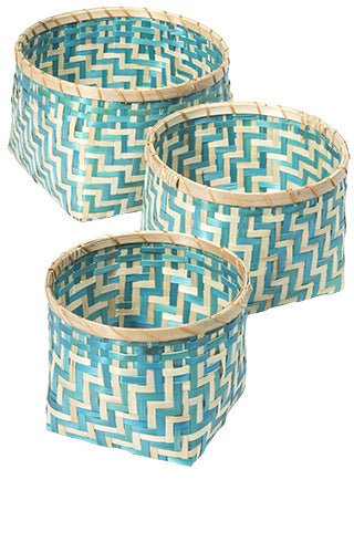 Bamboo Baskets Round (Set of 3)