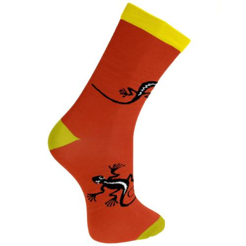 Bamboo Socks (Mens) - Red Gecko