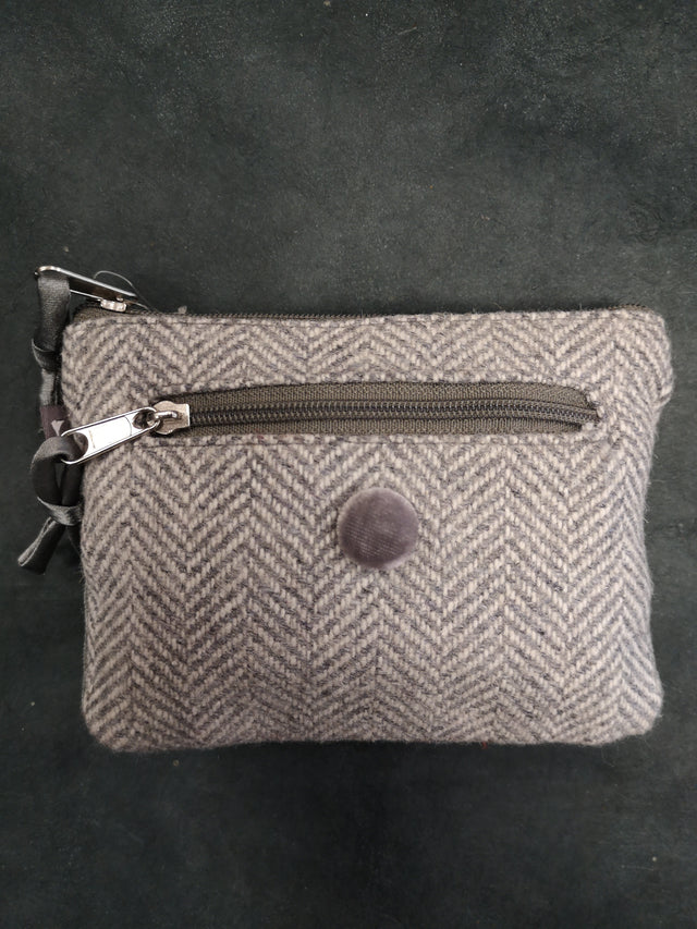 Grey Striped Rectangle Purse