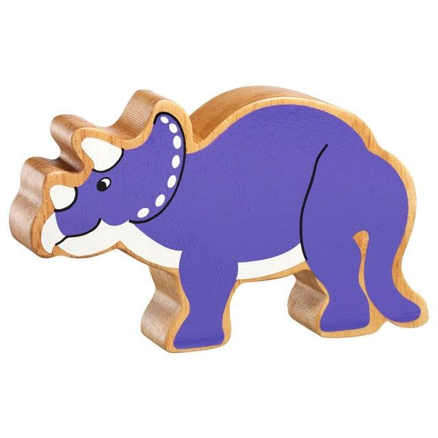 Purple Two Horned Dinosaur Shape Toy