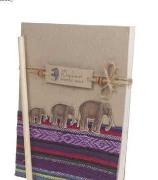 Textile Elephant Notebook