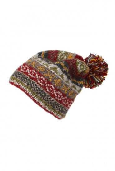 Bobble Beanie Finisterre Rust