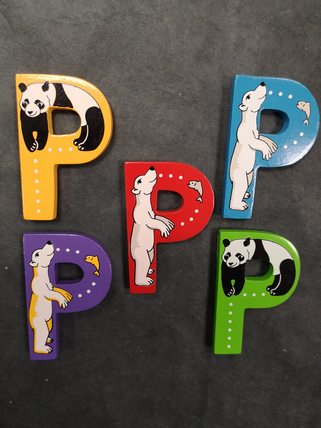 Children's Animal Letters - P