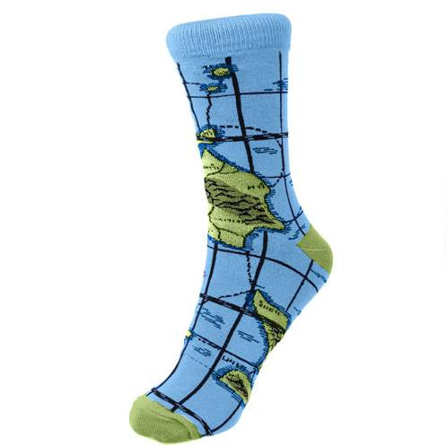 Bamboo Socks (Womens) - World Map