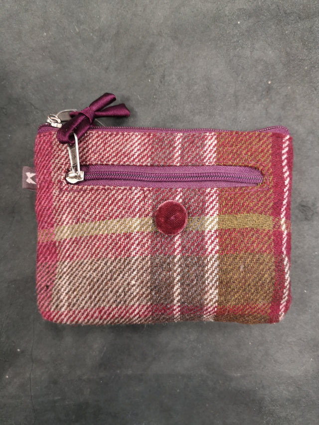 Plum Tweed Rectangle Purse
