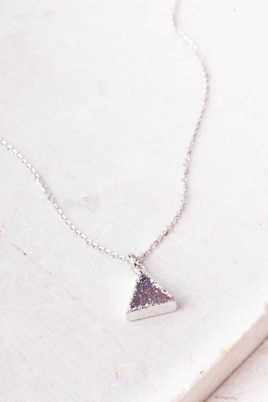 Lola Druzy Triangle Necklace