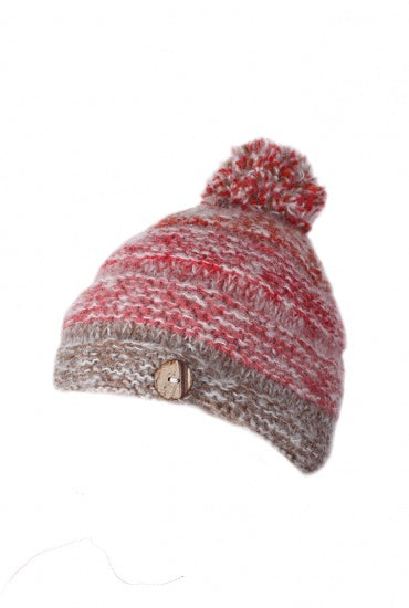 Bobble Beanie Sierra Nevada Red Earth