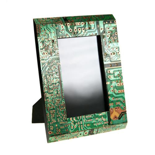 Recycled Circuit Board Photo Frame