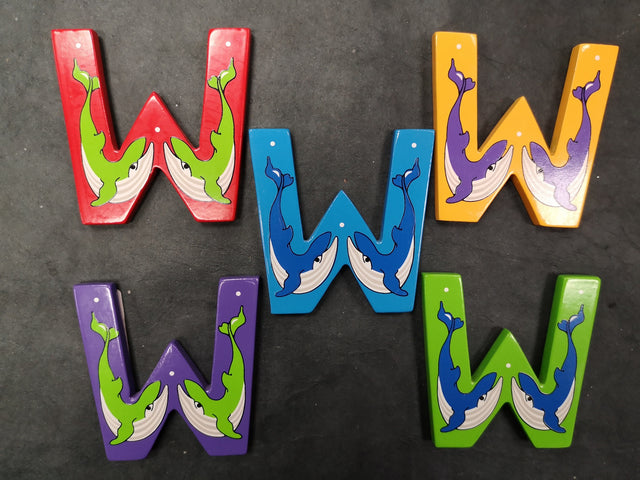 Children's Animal Letters - W
