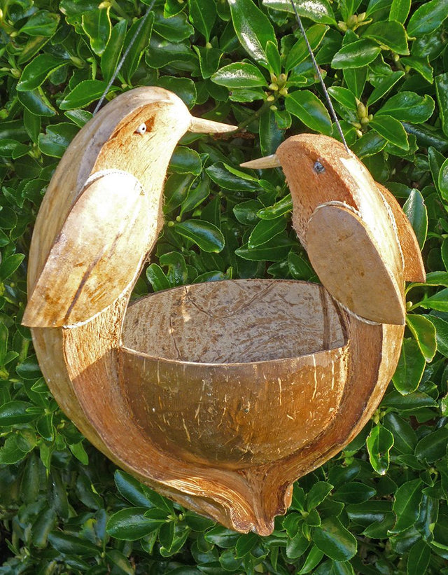 Coconut Bird Feeder (2 Birds)