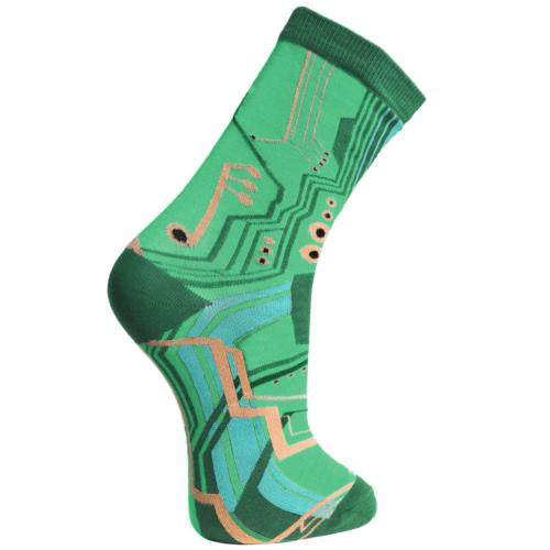 Bamboo Socks (Womens) - Circuit Board