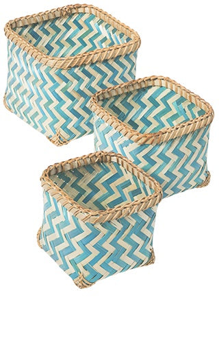 Bamboo Baskets Square (Set of 3)