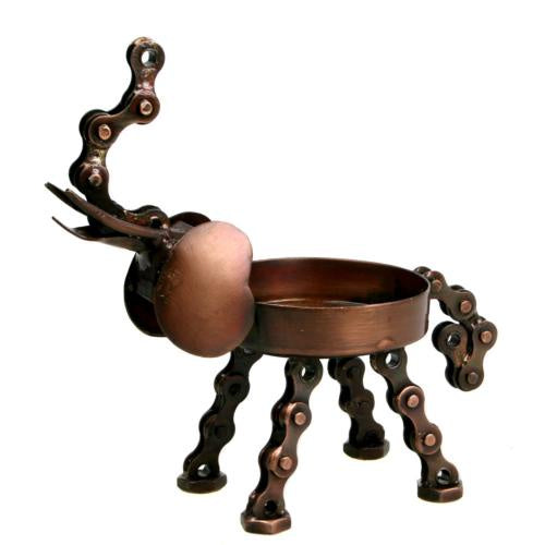 Bike Chain Elephant Tealight Holder