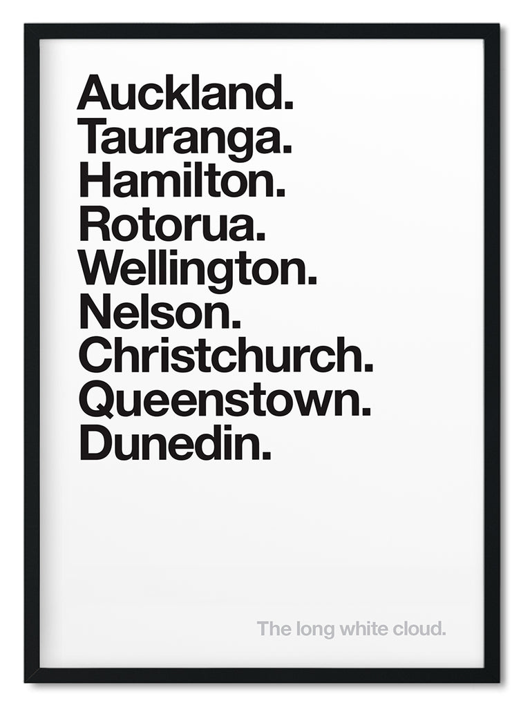 New Zealand cities print