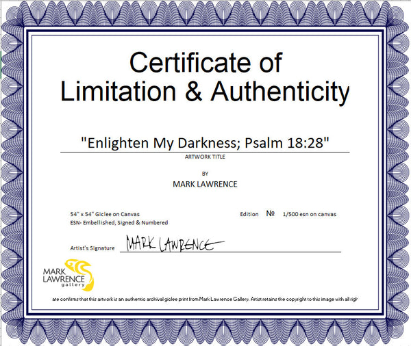 Certificate of Authenticity (COA)