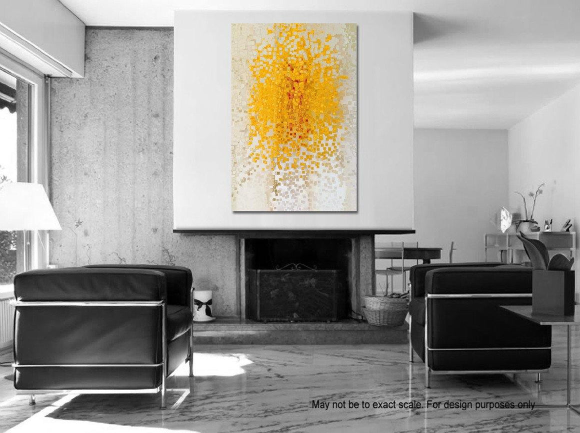 "Big Painting Room Inspiration- Modern Abstract Christian Art Limited Edition by Mark Lawrence. Giant 54""x81"" art on canvas, richly hand embellished with textured brush strokes by the artist."