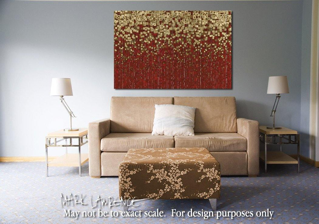 "Room Art Inspiration- Contemporary Christian Art Limited Edition by Mark Lawrence.Giant 81""x54"" art on canvas, richly hand ultra-embellished with textured brush strokes by the artist"