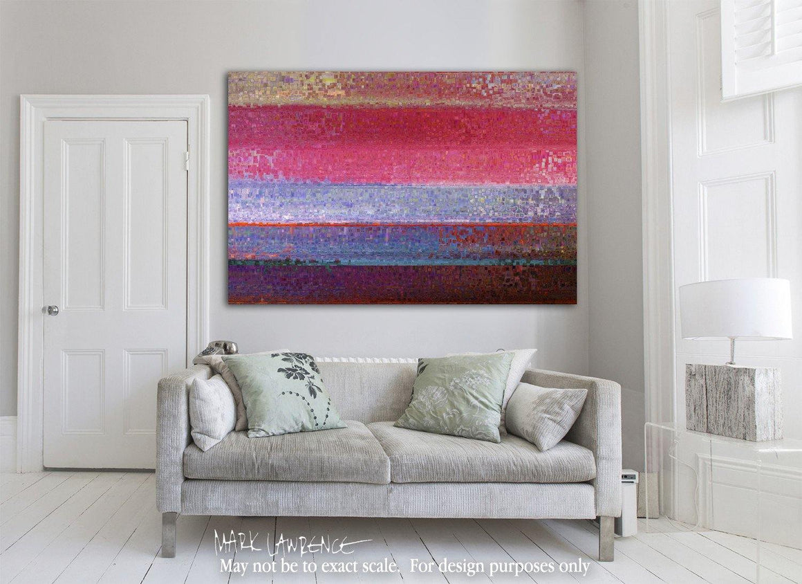 "Room Art Inspiration- Christian Art-1 Peter 2:24 I Walk In Divine Health-Modern Abstract Art. Limited Edition Modern Christian Art Signed by Mark Lawrence. Inspiring, big 81""x54"" art on canvas. Ultra hand embellished with rich brush strokes by the artist"
