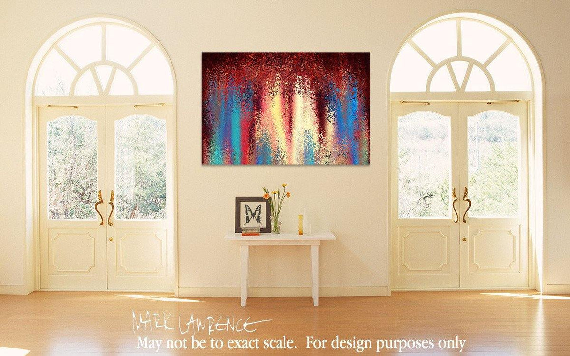 Room Art Inspiration- Christian Art-1 Thessalonians 5:18. Versevisions inspirational art by Mark Lawrence. Artist Direct- Original limited edition signed canvas and paper giclees