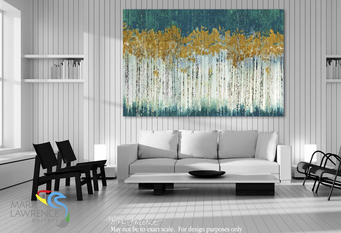 "Desigher Room Art Inspiration- Limited Edition Modern Christian Art Signed by Mark Lawrence. Inspiring, big 81""x54"" art on canvas. Ultra hand embellished with rich brush strokes by the artist"