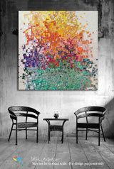 "Interior Design Inspiration- Acts 2:38. Receive The Gift! Limited Edition Christian Modern Art. Ultra-hand embellished and textured with rich brush strokes by the artist. Signed & numbered brightly colored Christian abstract art. Find Art That Speaks To You! Then Peter said to them, ""Repent, and let every one of you be baptized in the name of Jesus Christ for the remission of sins; and you shall receive the gift of the Holy Spirit. Acts 2:38"