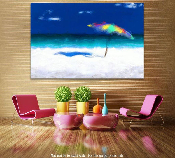 Limited Edition- Beach Scene 4. Abstract Beach Art