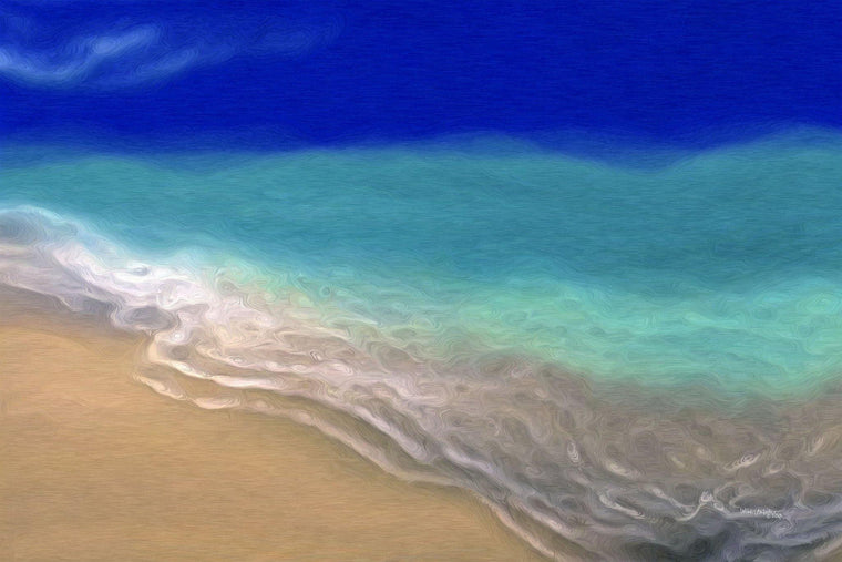 Large Painting Detail-Beach Scene 7. Exclusive Traditional Fine Art Collection. Original limited edition signed canvas & paper giclees by internationally collected artist Mark Lawrence