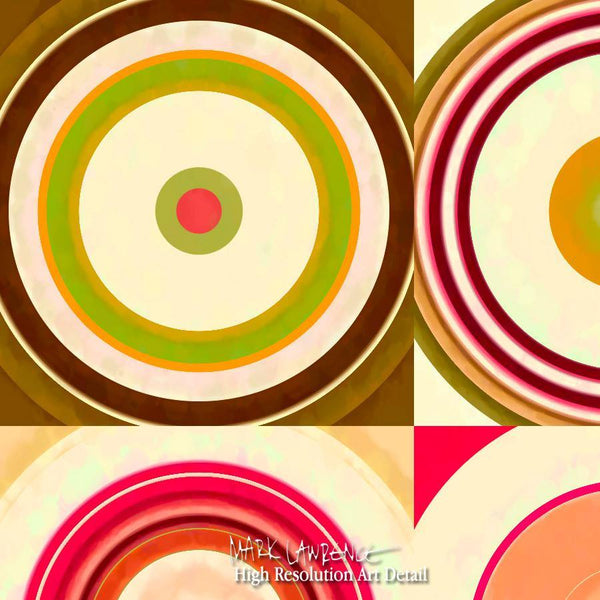 Large Painting Detail-Circles & Squares #21. Exclusive Traditional Fine Art. Original limited edition signed canvas & paper giclees by internationally collected artist Mark Lawrence