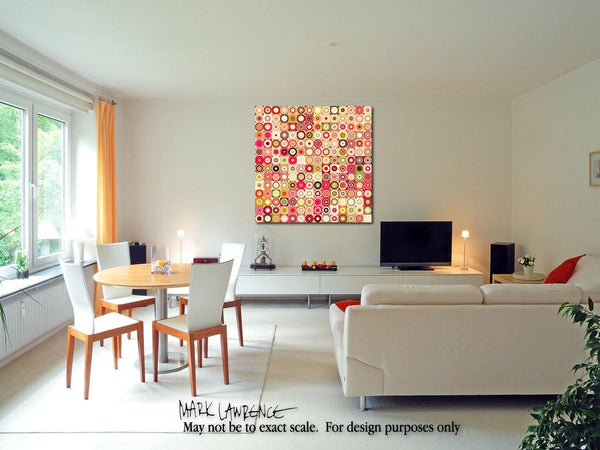 Interior Design Focal Art Inspiration-Circles & Squares #21. Exclusive Traditional Fine Art. Original limited edition signed canvas & paper giclees by internationally collected artist Mark Lawrence