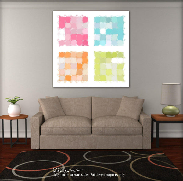 Interior Design Focal Art Inspiration-Circles & Squares #22. Exclusive Traditional Fine Art. Original limited edition signed canvas & paper giclees by internationally collected artist Mark Lawrence