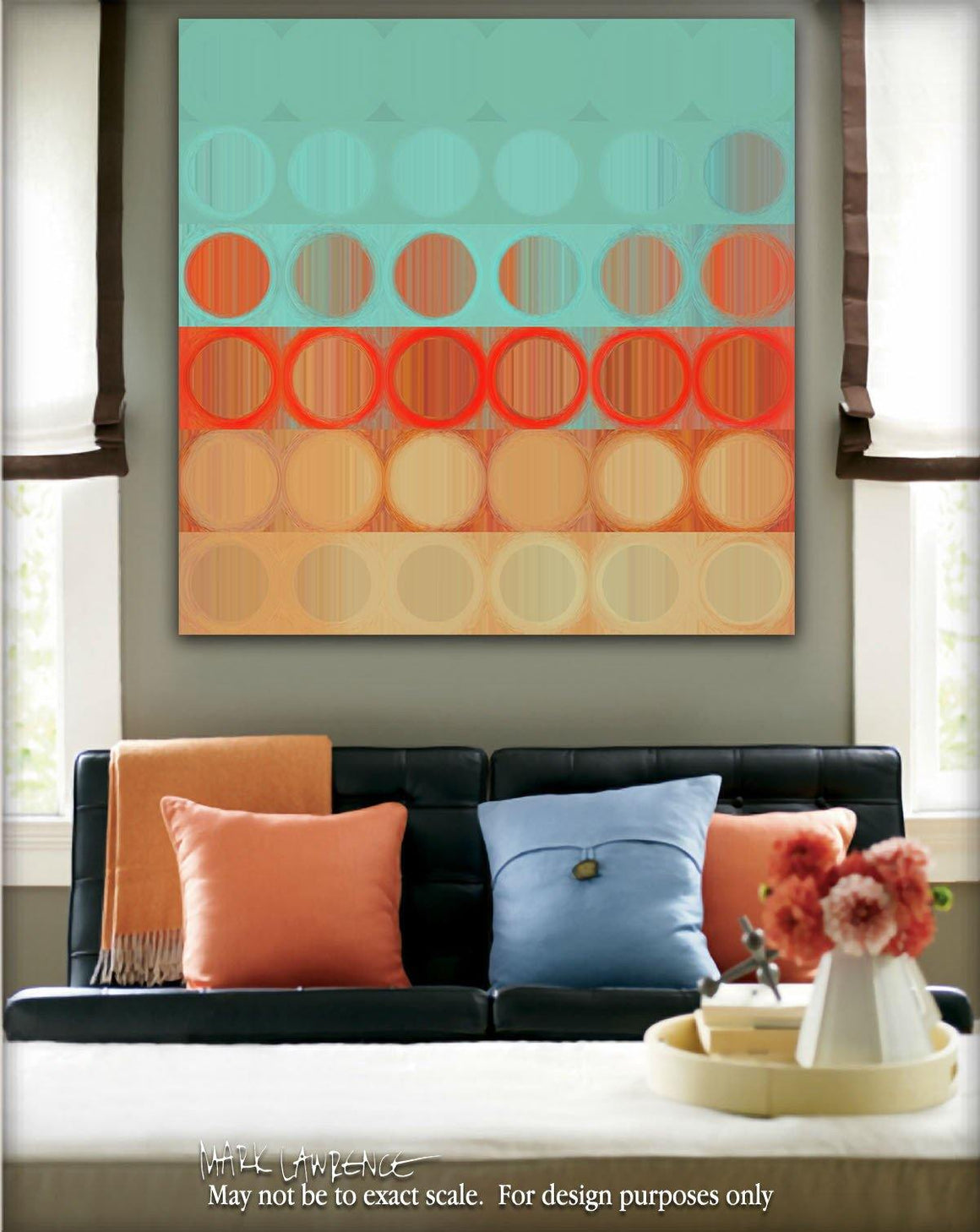 Interior Design Focal Art Inspiration-Circles & Squares #23. Exclusive Traditional Fine Art. Original limited edition signed canvas & paper giclees by internationally collected artist Mark Lawrence