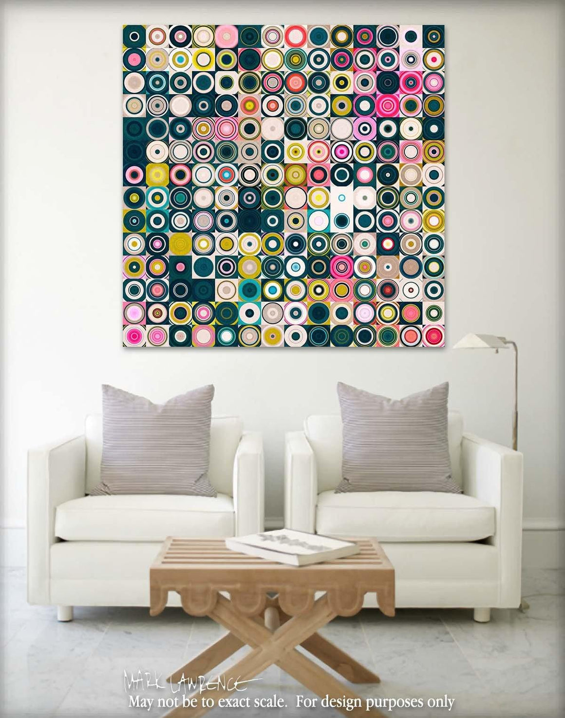 Interior Design Focal Art Inspiration-Circles & Squares #24. Exclusive Traditional Fine Art. Original limited edition signed canvas & paper giclees by internationally collected artist Mark Lawrence