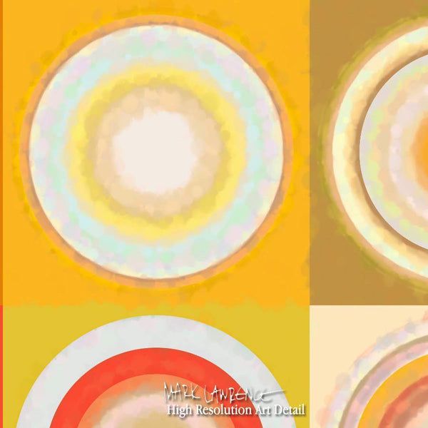 Large Painting Detail-Circles & Squares #26. Exclusive Traditional Fine Art. Original limited edition signed canvas & paper giclees by internationally collected artist Mark Lawrence