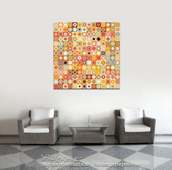 Interior Design Focal Art Inspiration-Circles & Squares #26. Exclusive Traditional Fine Art. Original limited edition signed canvas & paper giclees by internationally collected artist Mark Lawrence