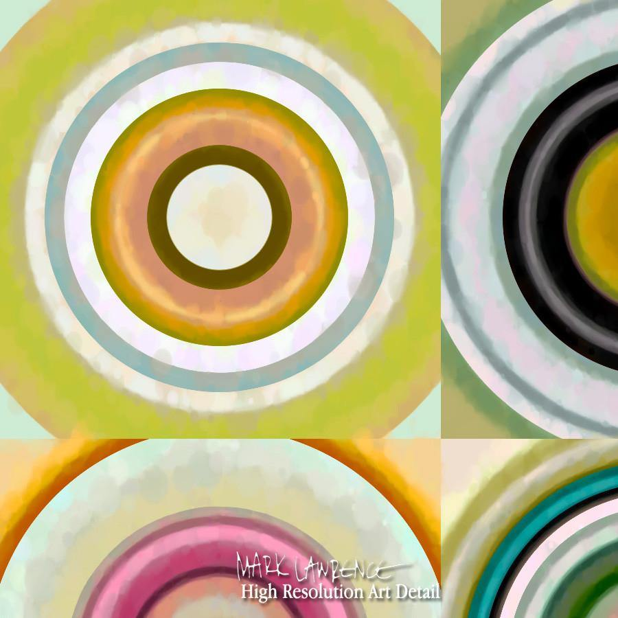 Large Painting Detail-Circles & Squares #28. Exclusive Traditional Fine Art. Original limited edition signed canvas & paper giclees by internationally collected artist Mark Lawrence