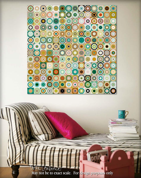 Interior Design Focal Art Inspiration-Circles & Squares #28. Exclusive Traditional Fine Art. Original limited edition signed canvas & paper giclees by internationally collected artist Mark Lawrence