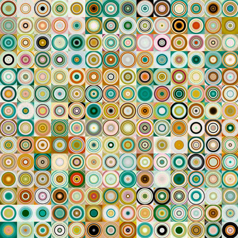 Circles and Squares #28. Modern Fine Art