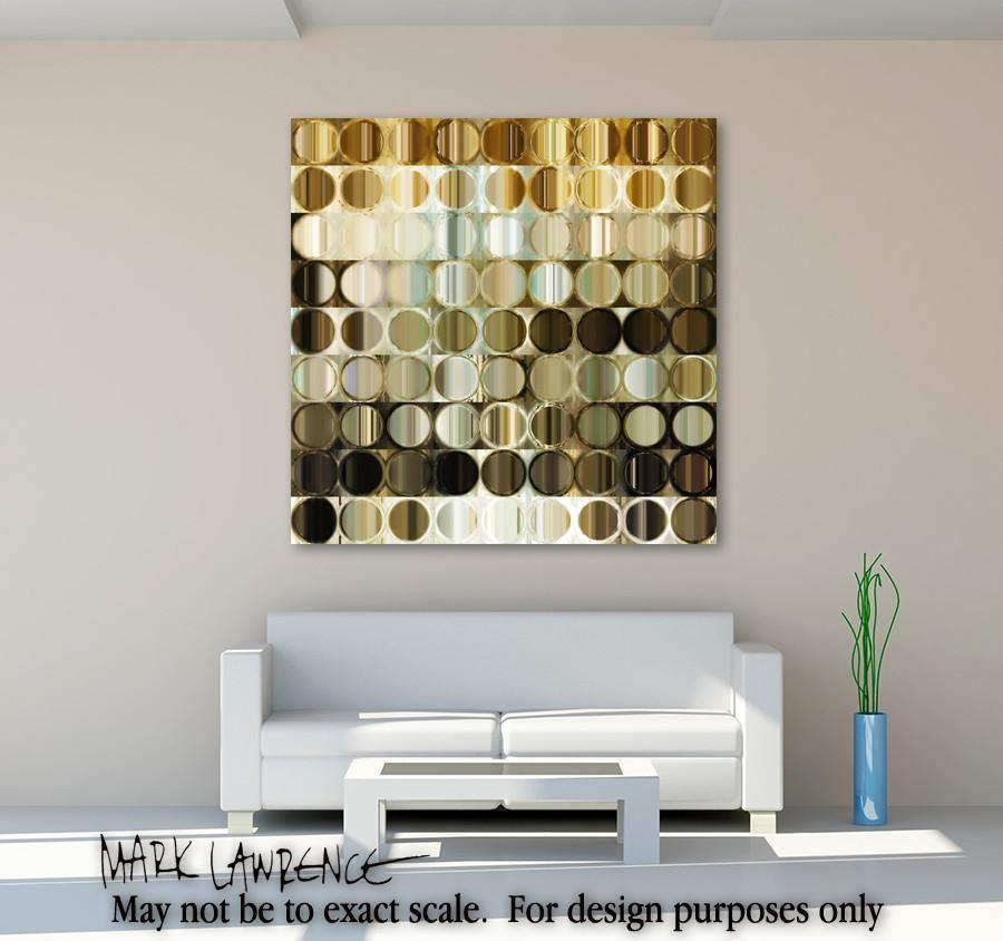 Interior Design Focal Art Inspiration-Circles & Squares 41. Exquisite Traditional Fine Art. Original limited edition signed canvas & paper giclees by internationally collected artist Mark Lawrence