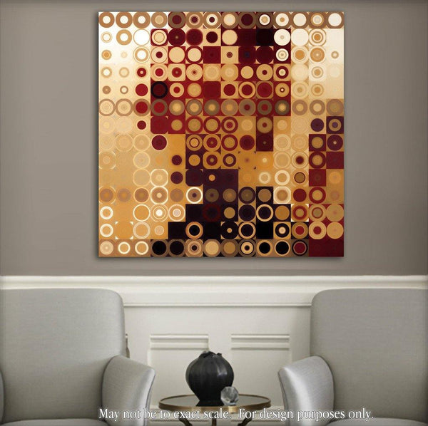 Limited Edition- Circles and Squares #10. Modern Fine Art
