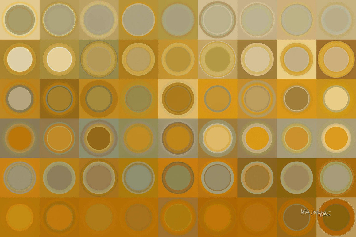 Circles and Squares #30. Modern Fine Art