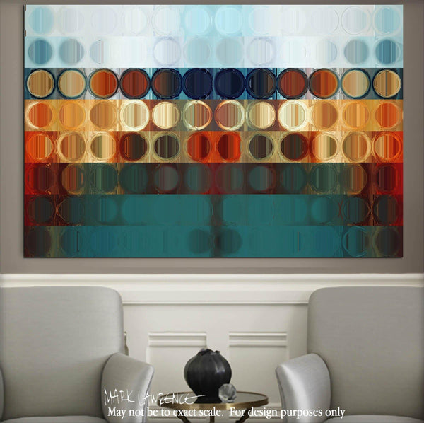Interior Design Focal Art Inspiration-Circles & Squares #31. Exclusive Traditional Fine Art. Original limited edition signed canvas & paper giclees by internationally collected artist Mark Lawrence