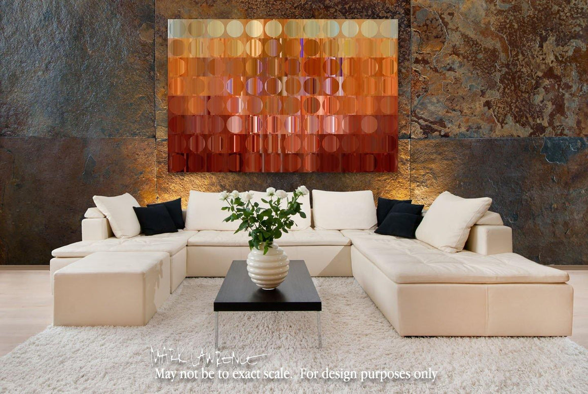 Interior Design Focal Art Inspiration-Circles & Squares #16. Exclusive Traditional Fine Art. Original limited edition signed canvas & paper giclees by internationally collected artist Mark Lawrence